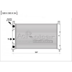 Engine cooling radiator - Fiat Fiorino / Uno Turbo IE