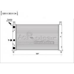Radiateur d'eau moteur - Fiat Fiorino / Uno Turbo IE