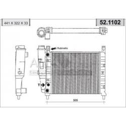 Radiateur d'eau moteur - Fiat Duna / Fiorino / Uno