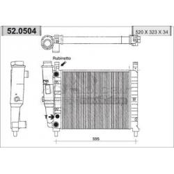Radiateur d'eau moteur - Fiat Fiorino / Uno