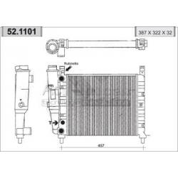 Engine cooling radiator - Fiat Uno 55 / 55 S / 60 S /60 SL