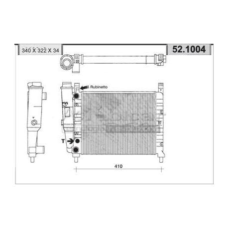 Radiateur d'eau moteur - Fiat Uno 45 i.e /45/S/SL/SX/Champ