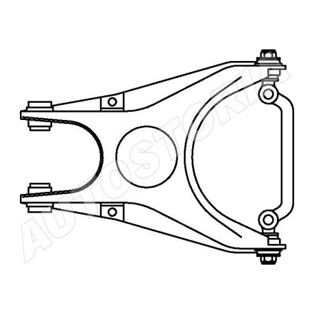 Left rear suspension arm - Fiat Fiorino 03/1988 --> 1993