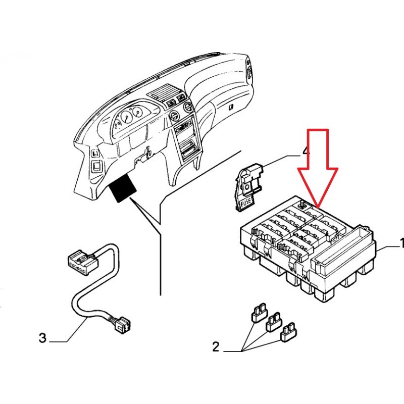 Alfa Romeo 145 Fuse Box Diagram