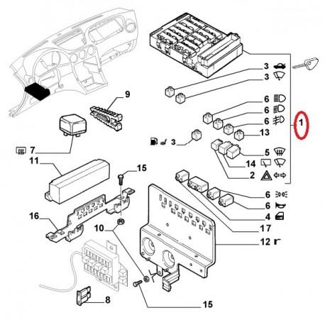 fuse box - alfa romeo 166