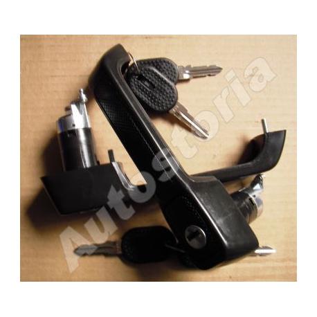 Set of outer door handles - Uno Restyling 5P 1989-->