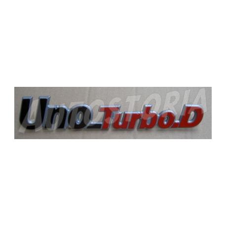 Rear emblem - Uno Turbo Diesel