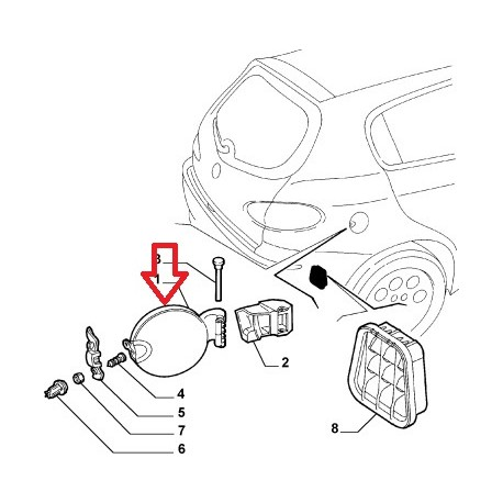 Fuel cap - Alfa Romeo 147 GTA -60678772 Alfa Romeo Gta Wiring Diagram on