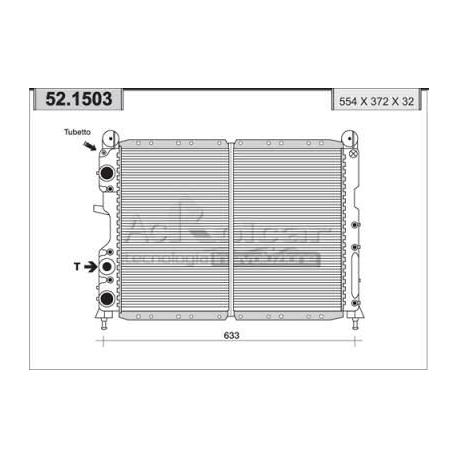Engine cooling radiatorFiat/Lancia