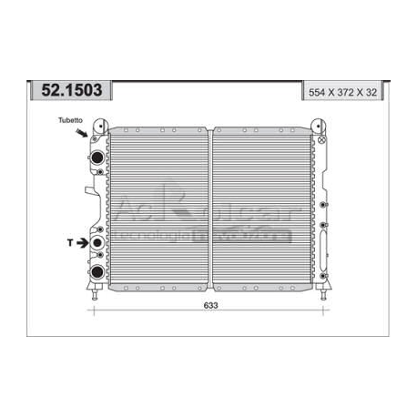 Radiateur d'eau moteurFiat/Lancia