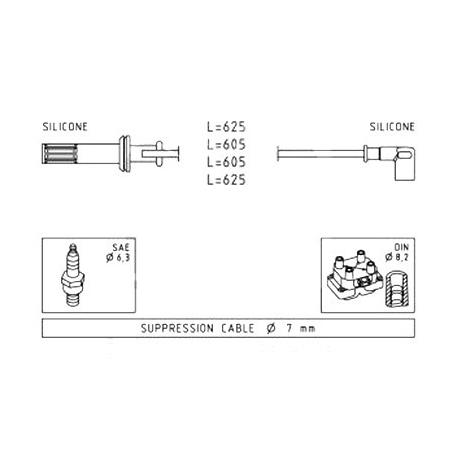 Ignition cable set - Fiat Coupe / Lancia Delta/Thema