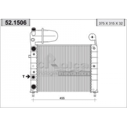 Engine cooling radiator - Fiat Tipo 1.1 / Pop 03/1988-