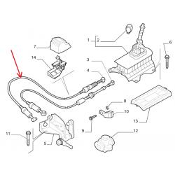 Cable de commande de boite - Fiat Grande Punto / Punto EVO