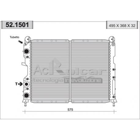 Engine cooling radiator - Alfa Romeo / Fiat / Lancia