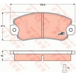 Front brake pads set - Regata , Ritmo , Panda , Uno , 131