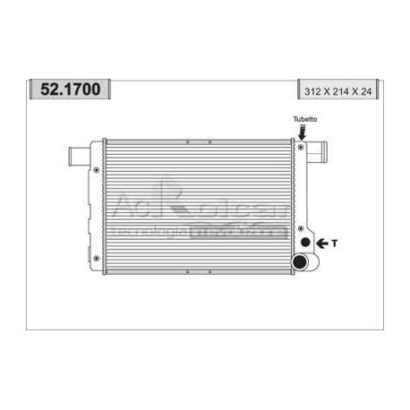 Radiateur d'eau moteur - Fiat Cinquecento 700 S