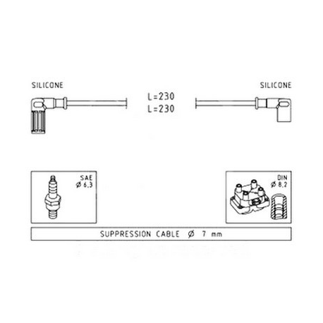 Ignition cable set - Fiat Cinquecento 0.7
