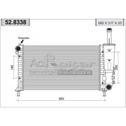 Engine cooling radiator - Fiat Punto II Sporting