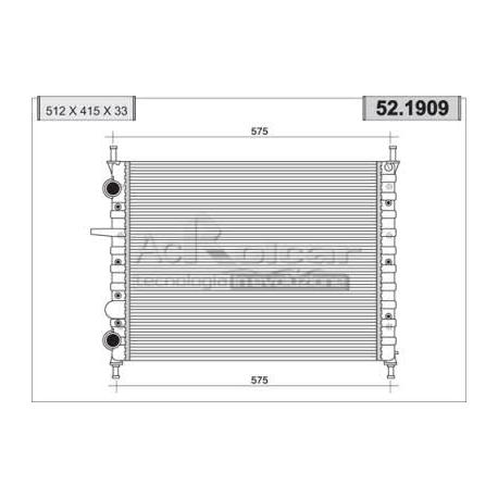 Radiateur d'eau moteurFiat Brava/Bravo/Marea (2.0 20V)