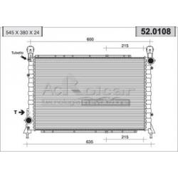 Engine cooling radiatorAlfa Romeo 145/146