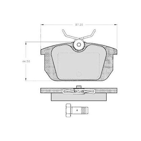 """Set of 4 rear brake pads """"GIRLING""""Alfa Romeo/Fiat/Lancia"""
