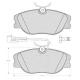 """Set of 4 front brake pads """"GIRLING"""" - Fiat / Lancia"""