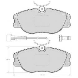 """Set of 4 front brake pads """"GIRLING"""" - Alfa Romeo / Fiat / Lancia"""