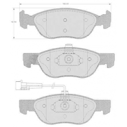 "Set of 4 front brake pads ""ATE""- Fiat / Lancia"