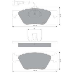 """Set of 4 front brake pads """"ATE""""Alfa Romeo/Fiat/Lancia"""