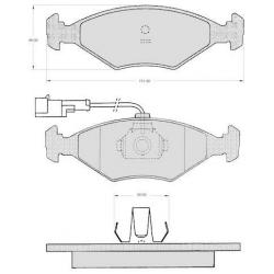 "Set of 4 front brake pads ""ATE""- Fiat Palio"