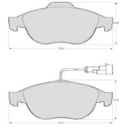 "Set of 4 front brake pads ""ATE""147/156"