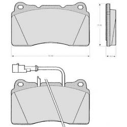 "Set of 4 front brake pads ""BREMBO"" - Alfa Romeo 166"