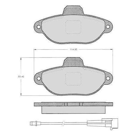 "Set of 4 front brake pads ""BENDIX"" - Cinquecento/Panda/Punto/Seicento"