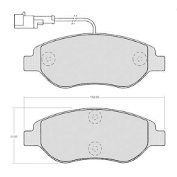 "Set of 4 front brake pads ""BOSCH""- Fiat / Lancia"