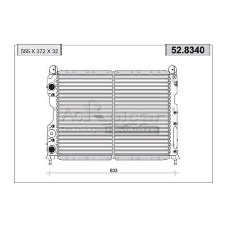 Radiateur d'eau moteurAlfa Romeo 145/146/155