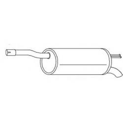 Exhaust backFiat Doblo