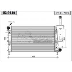 Engine cooling radiator - Fiat Punto II F.L. 1.2 8V / 16V