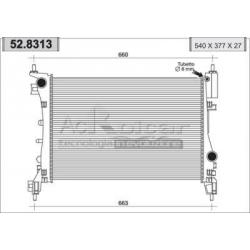 Engine cooling radiator - Fiat Grande Punto 1,2/1,4