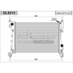 Radiateur d'eau moteur - Fiat Grande Punto 1,2/1,4