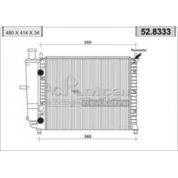 Radiateur d'eau moteur - Fiat Marea 1.6 i 16V