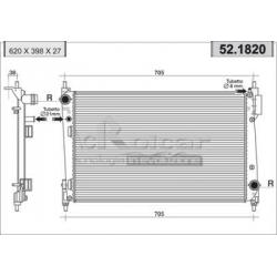 Radiateur d'eau moteur - Fiat Grande Punto 1.3 Multijet 16V