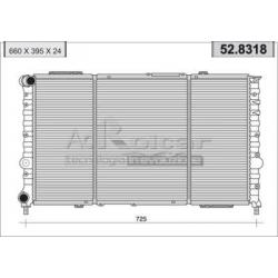 Radiateur d'eau moteurAlfa Romeo 166 2.5 V6/3.0 V6 (09/1998 - 06/2000)