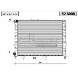 Engine cooling radiator - Alfa Romeo 156 1,6/1,8/2,0 Twin Spark