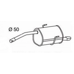Exhaust backAlfa Romeo 156