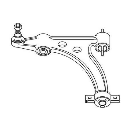 Right Suspension arm Lower166