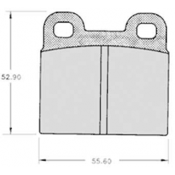 "Set of 4 rear brake pads ""ATE""- Alfa Romeo Spider 1.6 - 2.0 - 2.0i"