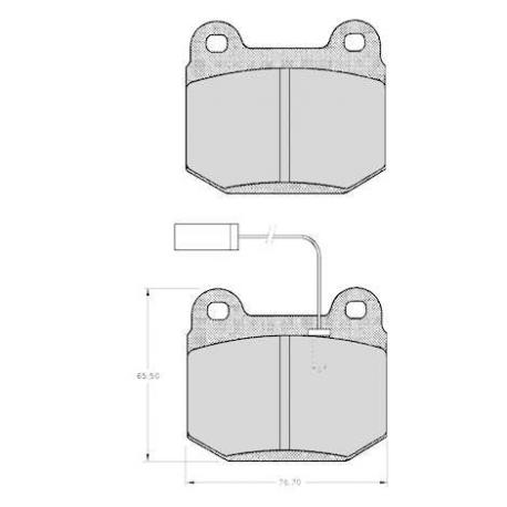 "Set of 4 front brake pads ""BREMBO"" - Alfa Romeo 75"