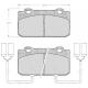 """Set of 4 front brake pads """"ATE""""- Alfa Romeo 33"""