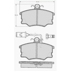 "Set of 4 front brake pads ""GIRLING""Alfa Romeo 164 2.0/2.0 Twin Spark (06/1987 - 11/1992)"