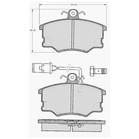 "Set of 4 front brake pads ""GIRLING""Alfa Romeo 164 2.0/2.0 Twin Spark (06/1987 --> 11/1992)"